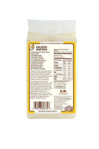 Garbanzo bean flour - uk - back