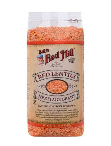 Beans red lentils - front