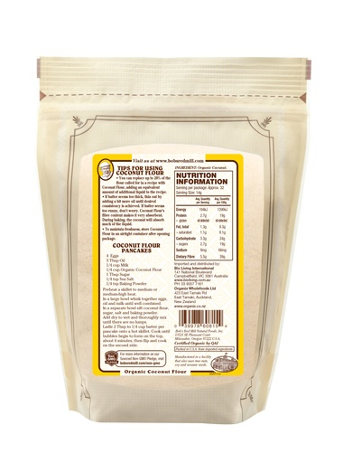 Coconut flour - 453g - AU - back