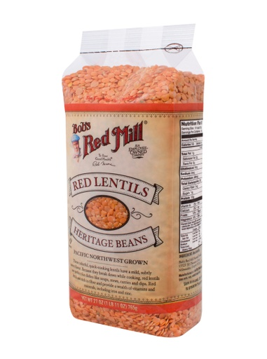 Beans red lentils - side