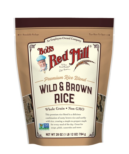 Wild and Brown Rice- front