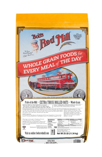 Extra thick rolled oats - 25 lbs