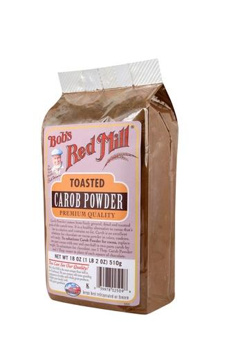 Toasted carob powder - side