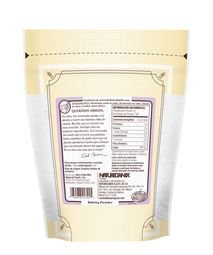 Baking Powder- MX 397g- back