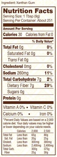 Xanthan gum - nutritional - SUP - 5 lbs