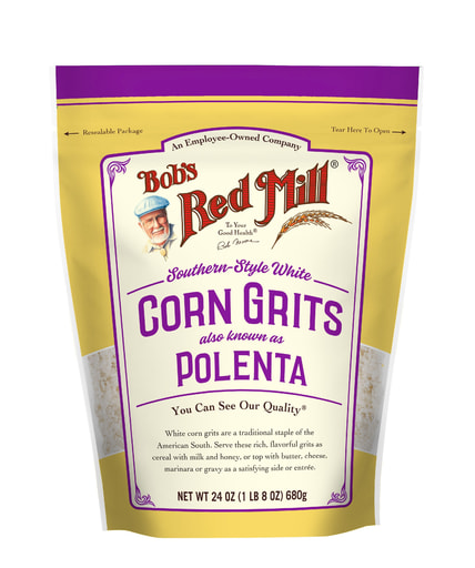 White Corn Grits- front