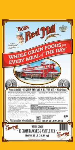 10 grain pancake & waffle mix - 25 lbs